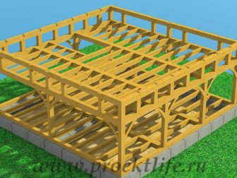 Каркасный дом из бруса - Как построить каркасный дом из бруса -  дом из бруса 10 336x252