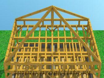Как построить каркасный дом из бруса