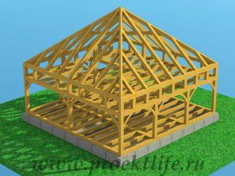 Каркасный дом из бруса - Как построить каркасный дом из бруса -  дом из бруса 16 336x252