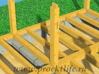 Каркасный дом из бруса - Как построить каркасный дом из бруса -  дом из бруса 4 2 336x252