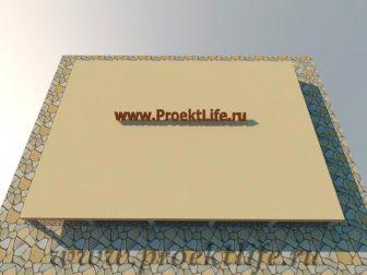 дачный домик - Дачный домик-пошаговая технология строительства - дом пол 336x252