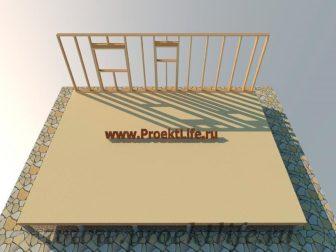 дачный домик - Дачный домик-пошаговая технология строительства - стена 1 336x252