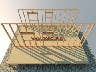 дачный домик - Дачный домик-пошаговая технология строительства -  стена 2 336x252