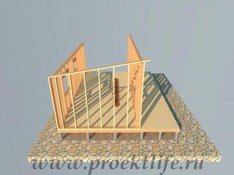 дачный домик - Дачный домик-пошаговая технология строительства - стена 3 336x252