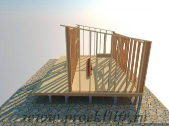 дачный домик - Дачный домик-пошаговая технология строительства - стена 4 336x252