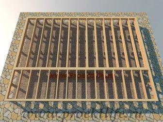 дачный домик - Дачный домик-пошаговая технология строительства -  пола дачного дома 336x252