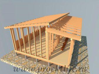 дачный домик - Дачный домик-пошаговая технология строительства - веранды 336x252