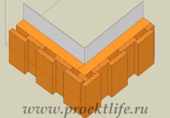 Деревянный фасад схема фасада