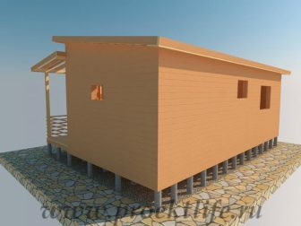 фасад-имитация-бруса-1 Дачный домик