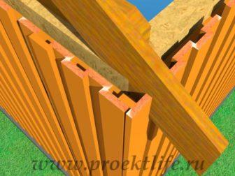 Деревянный фасад-каркасной-бани, дома, гаража.