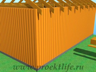 Деревянный фасад для каркасного дома