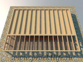 дачный домик - Дачный домик-пошаговая технология строительства -  пол 336x252