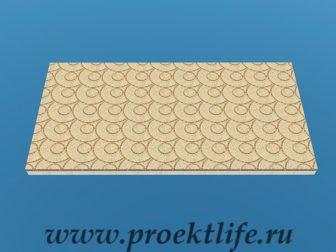 Прямоугольная беседка с плоской крышей
