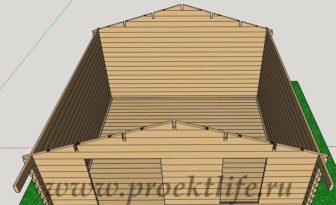 Баня 4х4 - Баня 4х4 из мини бруса - фото проект -  мини брус фронтоны 2 336x205