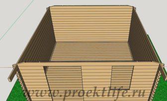 Баня 4х4 - Баня 4х4 из мини бруса - фото проект -  мини брус фронтоны 336x204