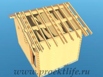 Банька из бруса - Банька из бруса 3х4 рабочий проект - 10 Банька из бруса стропильная система 336x252