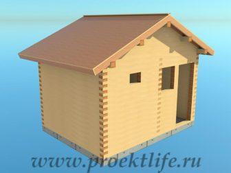 Банька из бруса - Банька из бруса 3х4 рабочий проект - 12 Банька из бруса черновая крыша 336x252