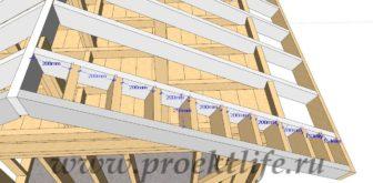 Каркасная банька-свес-крыши