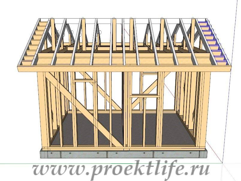 Крыша бани 3х4 своими руками 221