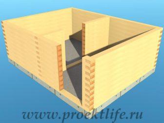 Банька из бруса - Банька из бруса 3х4 рабочий проект - 3 Банька из бруса венец 2 8 336x252