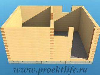 Банька из бруса - Банька из бруса 3х4 рабочий проект - 4 Банька из бруса венец 9 11 336x252