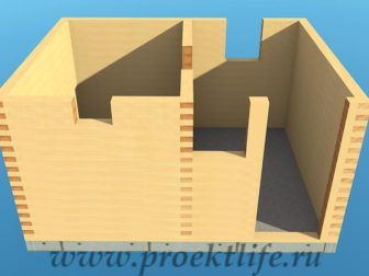 Банька из бруса 3х4 рабочий проект