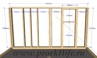 Каркасная банька-стена-4