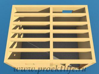 Банька из бруса - Банька из бруса 3х4 рабочий проект - 7 Банька из бруса лаги перекрытия 336x252