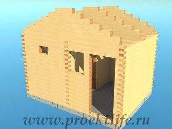 Банька из бруса - Банька из бруса 3х4 рабочий проект - 8 Банька из бруса фронтоны 336x252