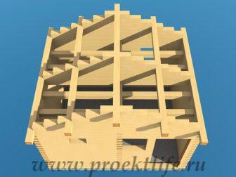 Банька из бруса - Банька из бруса 3х4 рабочий проект - 9 Банька из бруса коньковый прогон 336x252
