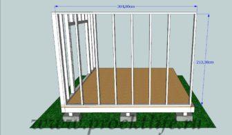 сарай своими руками - Как построить сарай своими руками -  стена 336x196