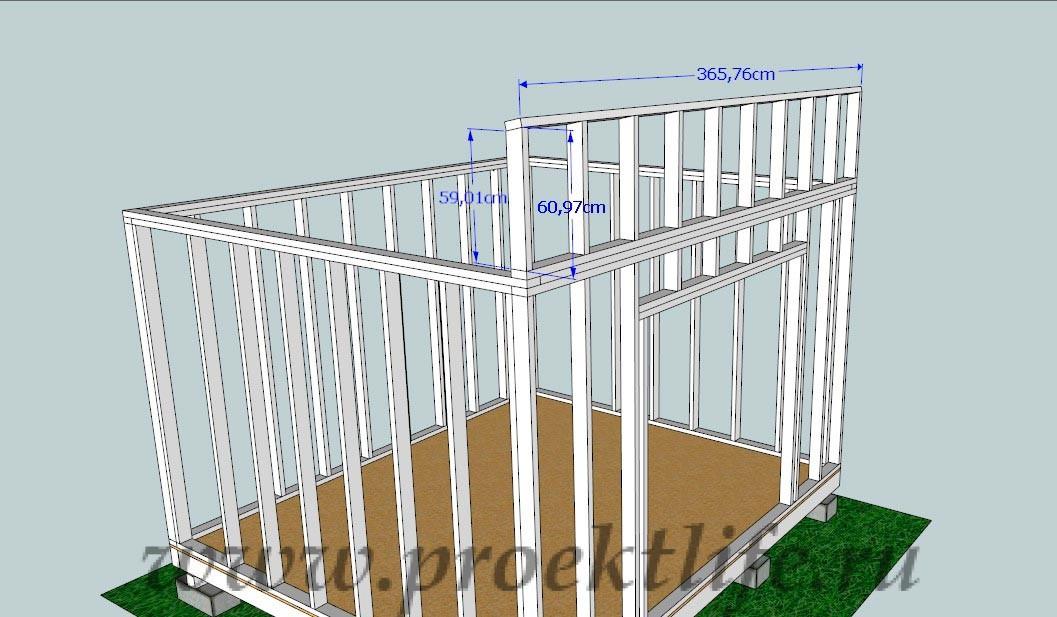 Как построить сарай своими руками с односкатной крышей поэтапно 6 3