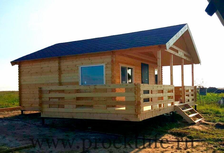 Рабочий проект садового домика из бруса