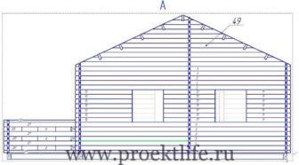 Рабочий проект садового домика