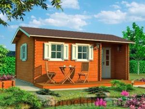 Садовые деревянные домики из бруса под ключ - Садовые деревянные домики из бруса под ключ: комфорт по доступной цене -  домик Берта 8 300x225