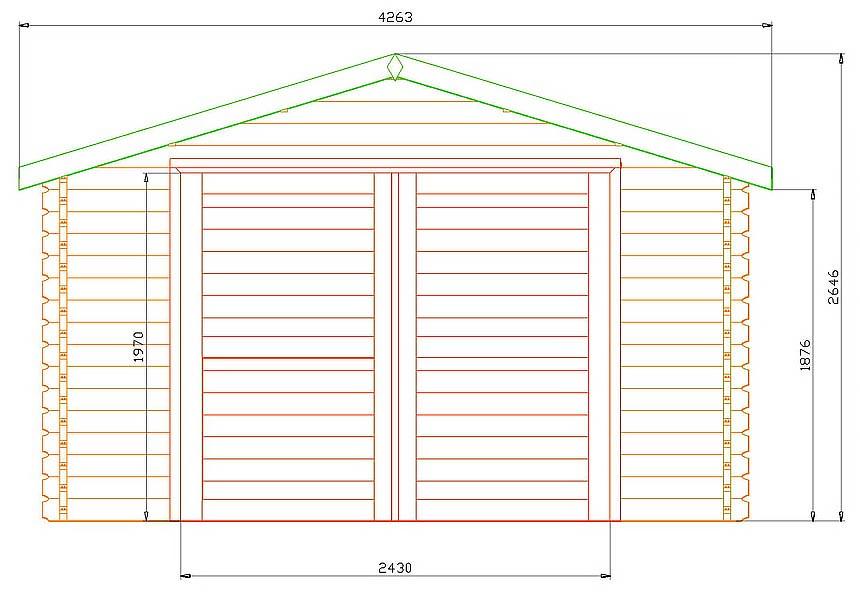 Как сделать деревянный гараж чертежи