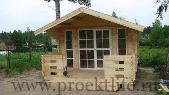 Дачный домик Комфорт 2 вид спереди