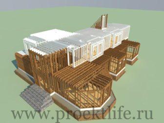 каркасный дом-второй этаж