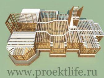 каркасный дом-перекрытие 2 этажа