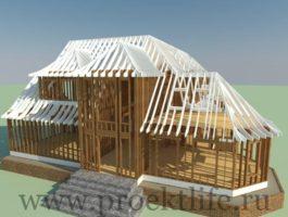 Сложные формы в каркасном строительстве