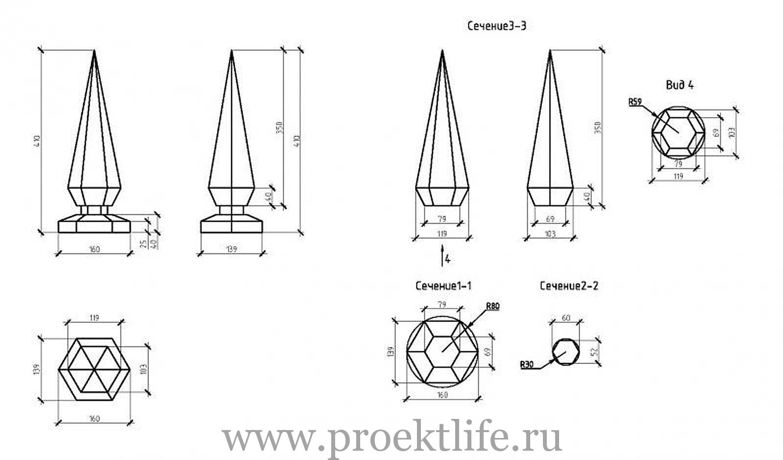 Проект шестигранной беседки Москва