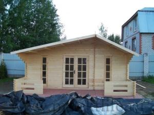 """- Садовый домик из бруса 45 мм """"Комфорт-5"""" - 2 3 300x225"""