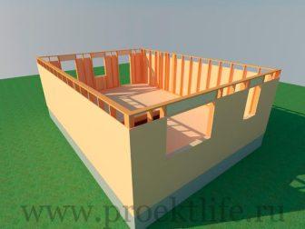 каркасный дом - Как построить каркасный дом -  первого этажа 336x252