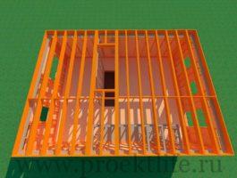 каркасный дом - Как построить каркасный дом -  второго этажа 265x200