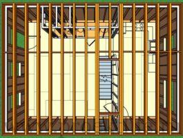 каркасный дом - Как построить каркасный дом -  второго этажа 3 265x200