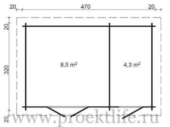"""2 336x252 - Уютный садовый домик """"Модерн-2"""""""