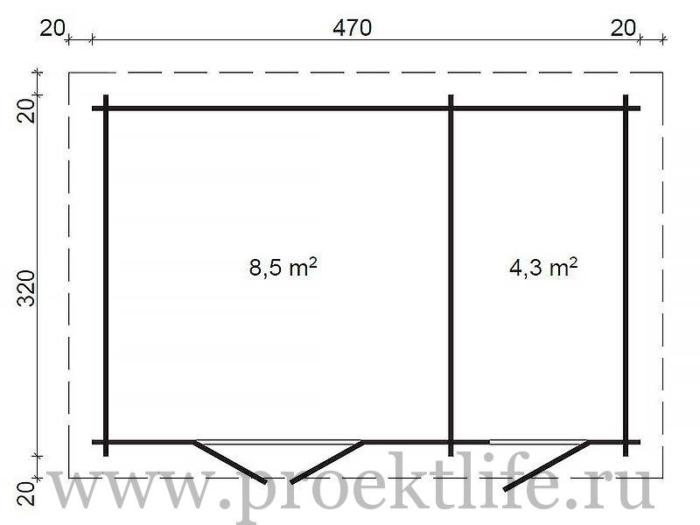 """- Уютный садовый домик """"Модерн-2"""" -  2 700x525"""