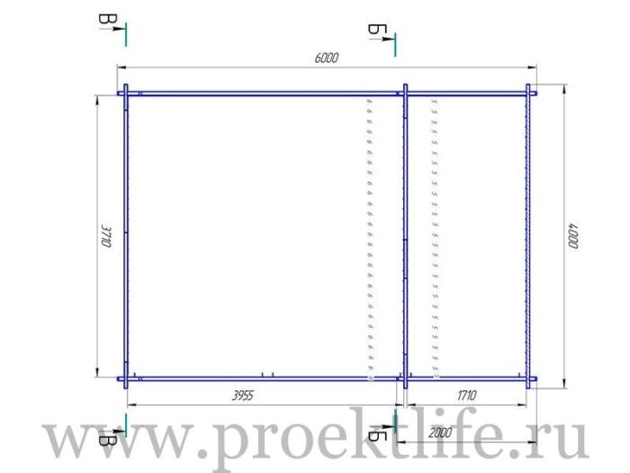 """- Садовый дачный домик из бруса 45 мм """"Уют"""" -  700x525"""