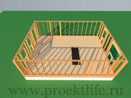 каркасный дом - Как построить каркасный дом -  первого этажа 1 265x200