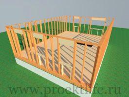 каркасный дом - Как построить каркасный дом -  первого этажа 265x200
